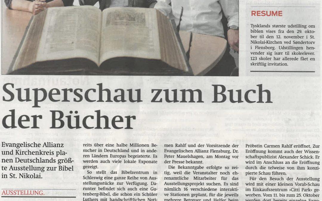Bibelausstellung in Flensburg – Wir nehmen Fahrt auf
